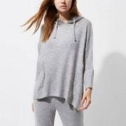 River Island Light grey knit hooded pyjama top