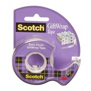 Scotch Gift Wrap - Dispensador de cinta adhesiva (19 mm x 16.5 m), transparente
