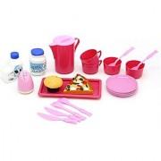 Little Treasures Kitchen Cooking & Serving Pretend Play Food Set