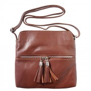 """Florence Leather Market Borsa a tracolla """"BE FREE"""" in pelle morbida (6110)"""