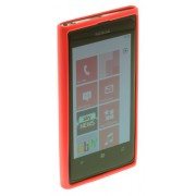 Works With Nokia Coque en TPU pour Lumia 800 Rouge