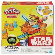 Play-Doh Star Wars Luke Skywalker & R2D2 Featuring Can-Heads + Extra Play-Doh Glow Doh Modeling Compound - Bundle