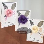 Invitatii nunta Flori de hartie