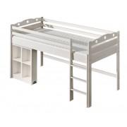 Steiner Shopping Moebel (DO) Kinderbett / Hochbett Milo 23 inkl. Schreibtisch, Farbe: Weiß, massiv, Liegefl?