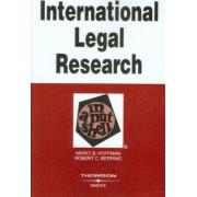 International Legal Research in a Nutshell by Marci Hoffman