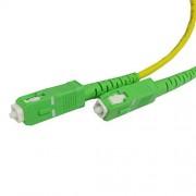 Cablematic Cable de fibra óptica SC/APC a SC/APC monomodo simplex 9/125 de 10 m