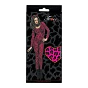 Leopard Print Pink Bodysuit, One Size, Womens