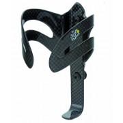 Tour de France, Portaborraccia in carbonio Carbon-Trinkflaschenhalter, Nero (schwarz), 24 gr