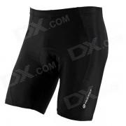 NUCKILY Bike Ciclismo Riding Shorts Lycra - Negro (Talla XL)
