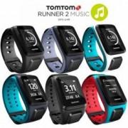 TomTom Runner 2 Music GPS-Sportuhr Größe L (143-206 mm) Farbe türkis/rot