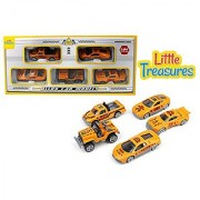 Die-cast engineering fleet alloy toy car models set of 5 vehicles a pick up truck sports car drag racing car jeep and