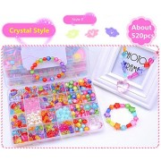 Bead Kit - 24 Grid Crystal Style Make Up Puzzle Handmade Jewelry Making Kits Jewelry Beads Toys for Children Bracelets, Necklace, Early Childhood Education Toys & Perfect Christmas Gift - Jewelry Beads Set Accessories Toys / Beading & Jewellery-Making By