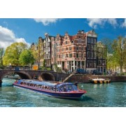 PUZZLE TURUL CANALULUI IN AMSTERDAM 1000 PIESE Ravensburger