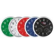 Ceas de perete diametru 35 x 2,7 cm, cu hygrometru si termometru, Crisma [A]