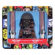 Talking Darth Vader Candy Dispenser with Lightsaber Lollipops in Collectible Star Wars Tin