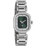 Fastrack Quartz Green Rectangle Women Watch 6145SM01