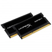Kingston HyperX Impact SODIMM - 16GB Kit* (2x8GB) - DDR3L 1600MHz - 16 GB (2 x 8 GB) - DDR3 SDRAM - 1600 MHz DDR3-1600/PC3-12800 - 1.35 V - Non-ECC - Unbuffered - 204-pin - SoDIMM - HX316LS9IBK2/16