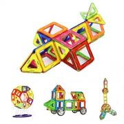 Bloques de Construcción, Crenova Magnéticos Building Blocks 50 Piezas Juegos de Construcción Para La Educación Del Niño de Los Ladrillos de Construcción Juguetes Ferris Wheel y Bolsa de Almacenamiento Incluida