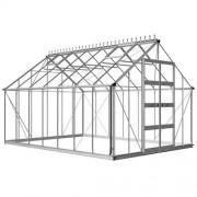 Odla 14,1 m² Växthus Aluminium, Kanalplast
