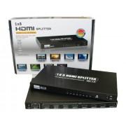 Home Cinema - Distributore HDMI, (1 x in 8 x OUT con alimentatore, Full HD Ready 1080p)