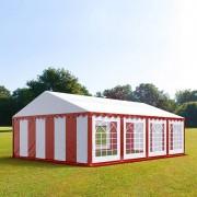 Intent24 5x8m tente de réception, PVC, H. 2m, rouge-blanc