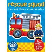 Set 6 puzzle - Echipa de salvare (2 & 3 piese) - Orchard Toys (204)