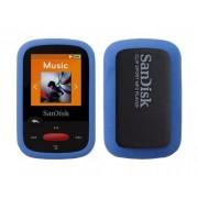 iShoppingdeals - for Sandisk Sansa Clip Sport MP3 Player (SDMX24) Soft Rubber Silicone Skin Cover Case Bumper Navy Blue