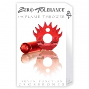 ZT Flame Thrower Vib Cock Ring Red