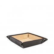 Leder Schreibtischorganizer in Schwarz - Schreibtisch-Butler, Ablagebox