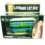 CORGI - CC06101 JAMES BOND 007 LIVE AND LET DIE - LEYLAND R T DOUBLE DECKER BUS