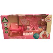 ELC Baby Doll and Nurture Set with Removable Clothes by ELC Cup Cake