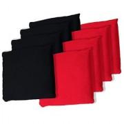 TRADEMARK GAMES Championship Cornhole Bean Bags (Set of 8) Black/Red