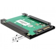 "DeLock Converter SATA 22 pin > mSATA with 2.5"" Frame 62432"