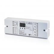 SL-2102BEA DMX DEKÓDER RGB+W négy külön csatornát vagy RGB+fehér színeket kezel