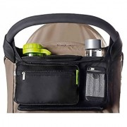 BEST STROLLER ORGANIZER for Smart Moms Fits All Strollers Premium Deep Cup Holders Extra-Large Storage Space for iPho
