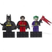 Lego Superheroes Batman Robin Joker Figure Magnet Set DC Universe 853421