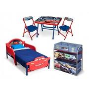 Delta Children Room in a Box Set Cameretta a Tema Disney Cars, Metallo, Multicolore, 61.98 x 61.98 x 50.29 cm