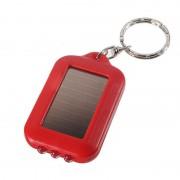 Solárna LED klúčenka v červenej farbe