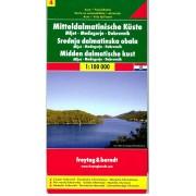 Wegenkaart - landkaart 04 Dalmatische Kust Mljet - Dubrovnik - Medugorje | Freytag & Berndt