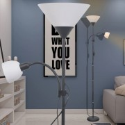 vidaXL лампион, черен