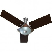 Ventilador de Teto Naulu 220V 3P Ctm At Aluminio Escovado 138,7W TABACO/ALUMINIO