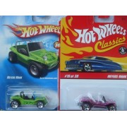 Hot Wheels Meyers Manx Set: Classics Series 3 Red Line & The #80 5 Spoke {2 Pieces} Scale 1/64 by Hot Wheels