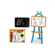 37 Two-Sided Standing Easel 3-in-1 Magnetic Writing Board for Kids