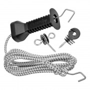 VOSS.farming Gate Handle Set with Elastic Rope 3.20m (Expands up to 6.2m)