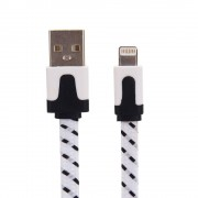 Nylon Lightning naar USB kabel - 200 cm - Wit