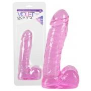 Violet Quartz - herés dildó (20cm)