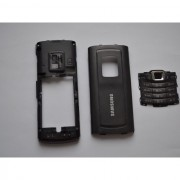 Carcasa Originala Samsung S7220 2 Piese si Capac Baterie Swap - Neagra