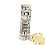 Dodolive Interactive Assembly DIY 3D Wooden Jigsaw Puzzle,Model of the Leaning Tower of Pisa