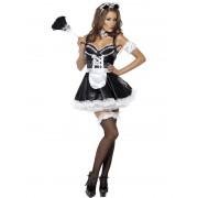 Costum carnaval Femei Menajera negru