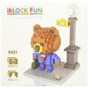 Little Treasures Loz diamond blocks brown bear in a suit rilakkuma - I-block fun compatible to Nanoblocks set - great educational toy 340pcs New in original box